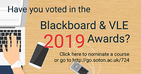 Vote for your favourite Blackboard course